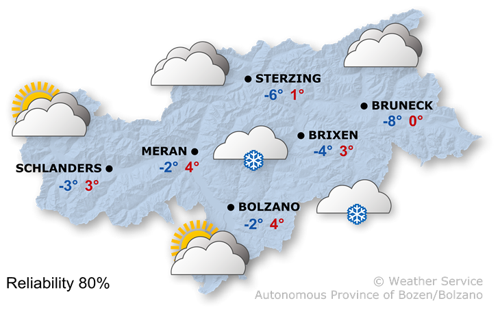 Forecast for today, thursday 12/12/2019