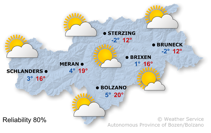 Forecast for today, sunday 29/03/2020