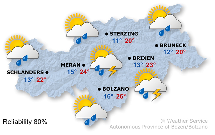 Forecast for today, wednesday 15/07/2020