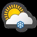 Cloudy, light snowfall