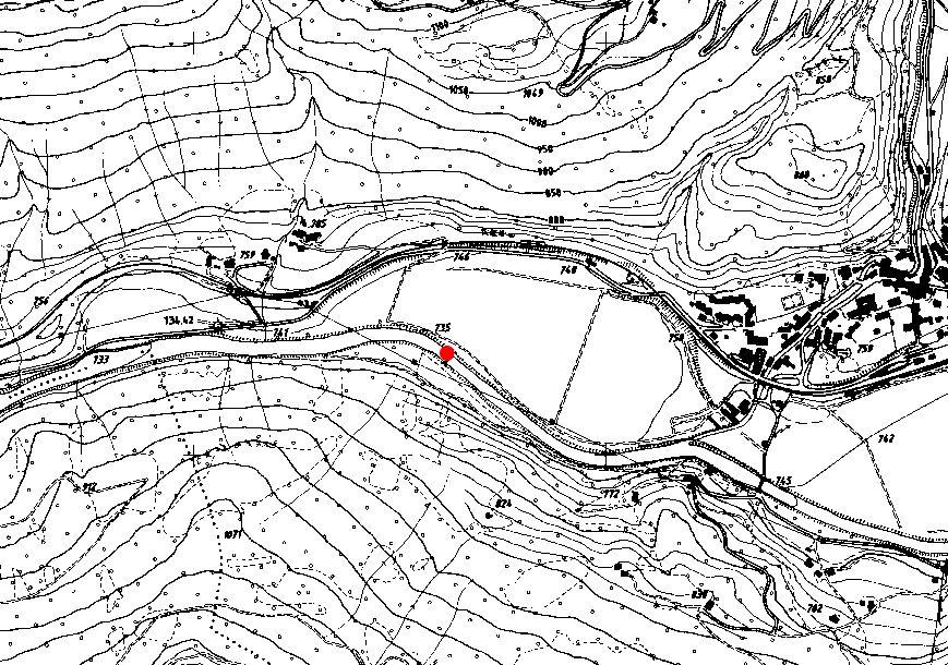 Technical map: Gauging station RIENZ BEI VINTL