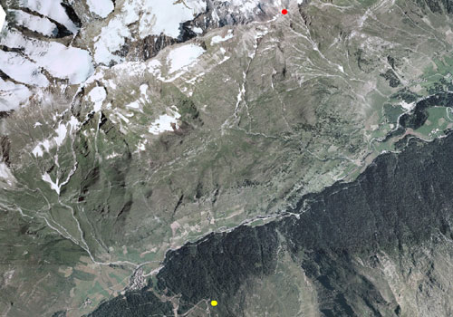 Carta tecnica: Stazione meteo Monte Scabro di Plan