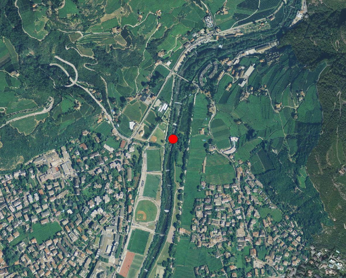 Technische Karte: Pegelstation TALFER BEI BOZEN